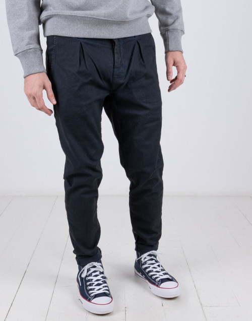 Pantalone blu scuro in cotone