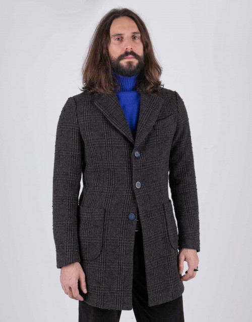 Cappotto marrone monopetto
