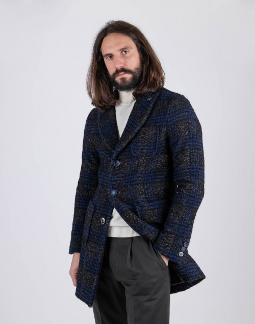 Blu gray single breasted coat