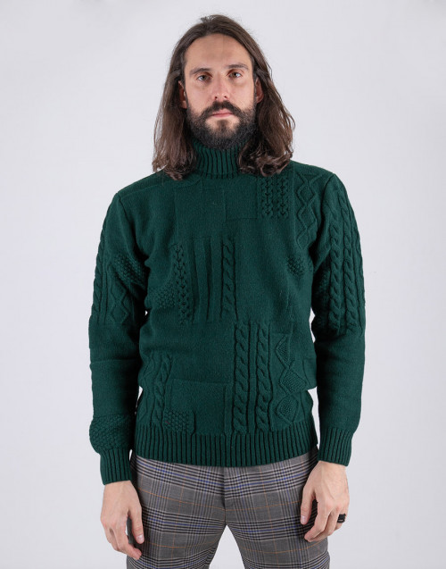 Olive Sweater wool turtleneck