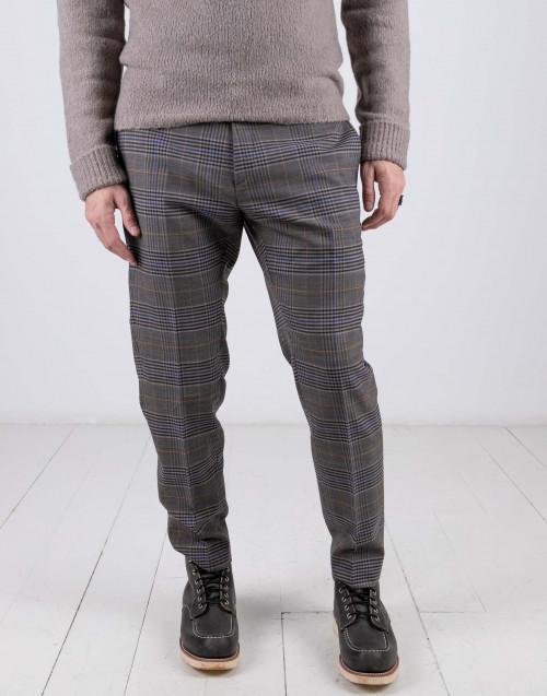 Pantaloni check grigio