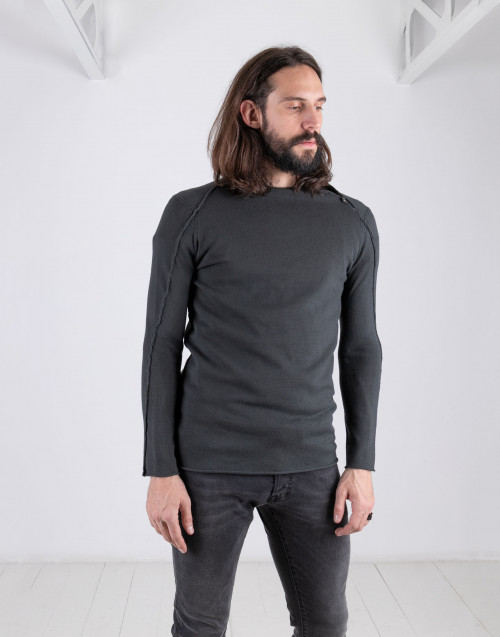 Anthracite viscose knit
