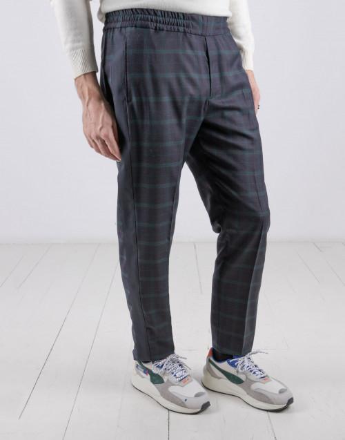 Pantalone blu scuro verde