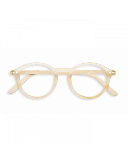 Beige reading glasses mod.D