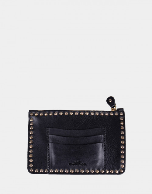 Black leather wallets Campomaggi