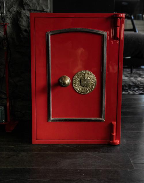 Cassaforte vintage S.F.Turner Wellington rossa