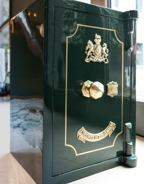 Vintage Green safe restored