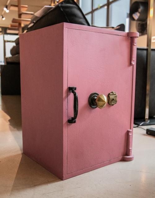 Pink restored safe